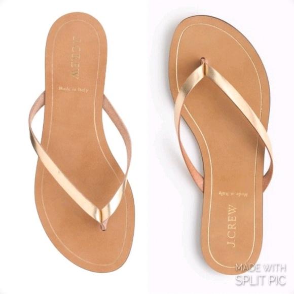 7ae28257acacf1 J. Crew Shoes - J. Crew Rio Gold Metallic Flip Flop Thong Sandals